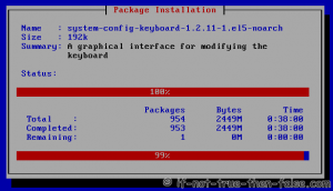 Installing Selected Packages - Installing packages
