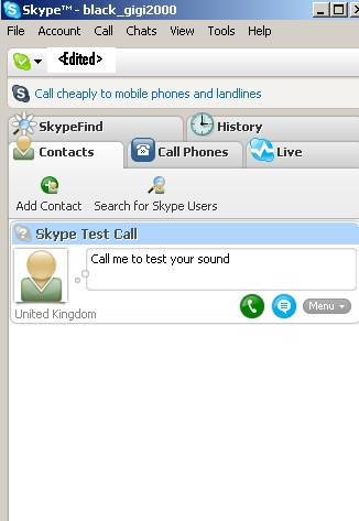 "Skype ""Connected"""
