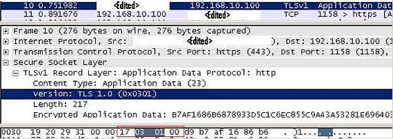 "Wireshark Trace for ""0x17030100"" signature"""